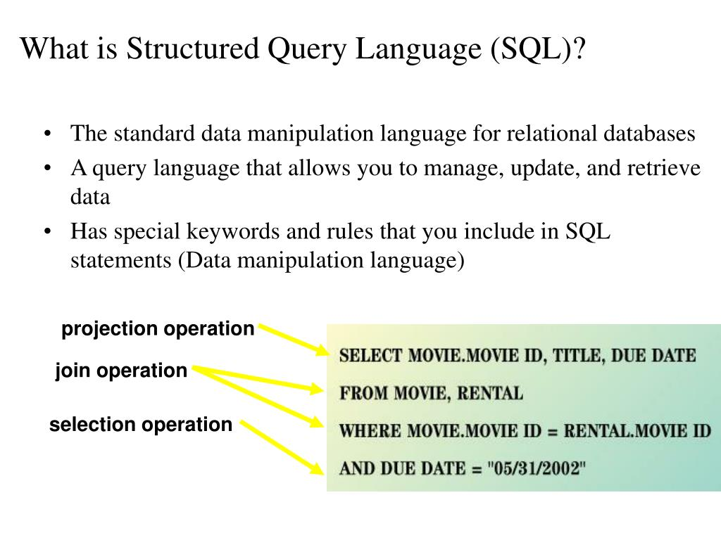 What is Structured Query Language (SQL)?
