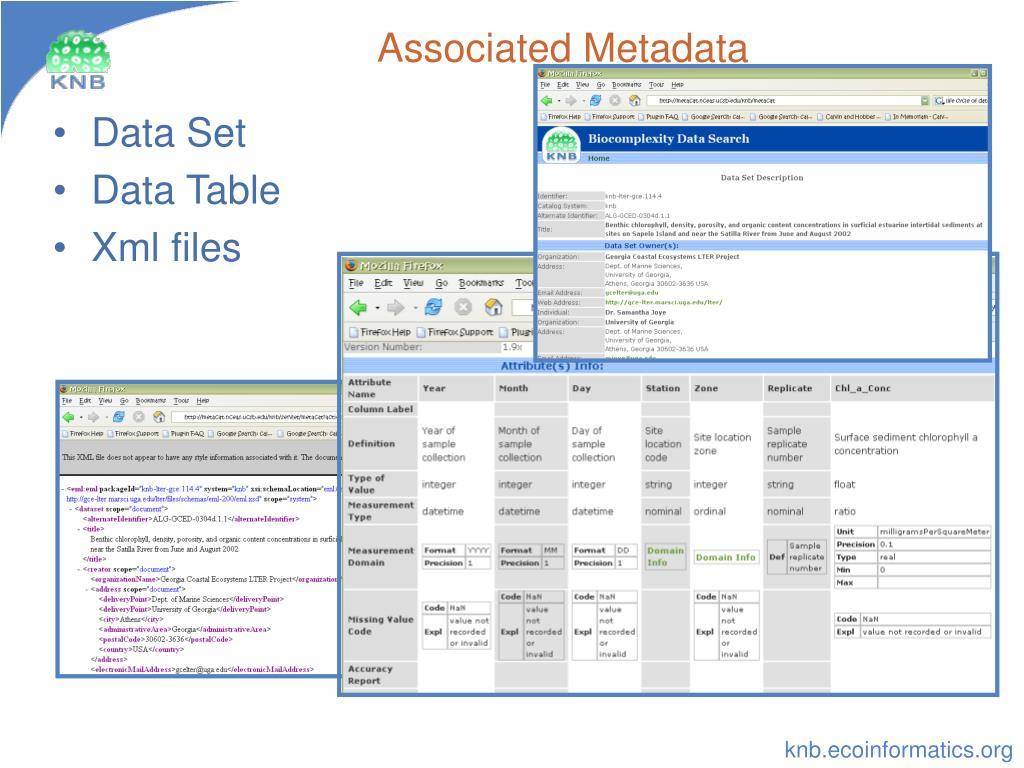 Associated Metadata