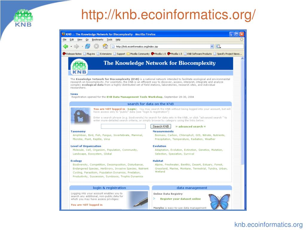 http://knb.ecoinformatics.org/
