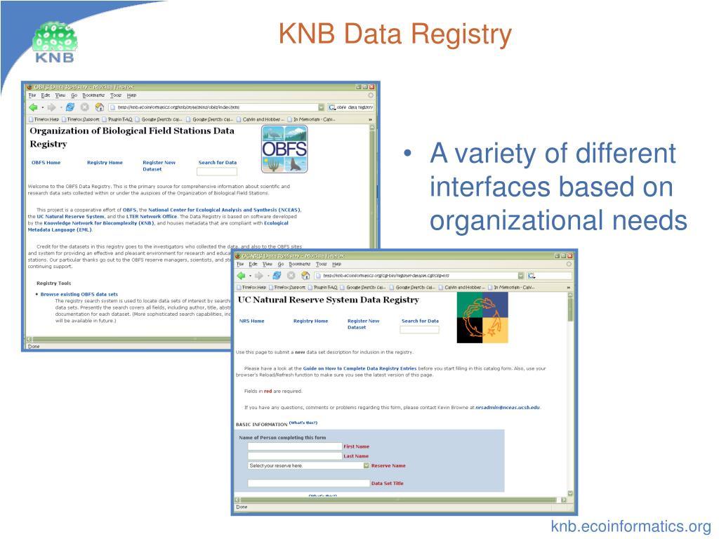 KNB Data Registry