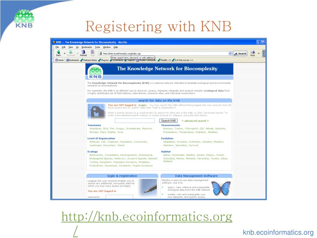 Registering with KNB