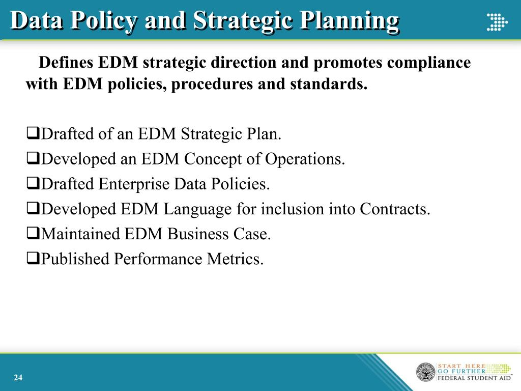 Data Policy and Strategic Planning