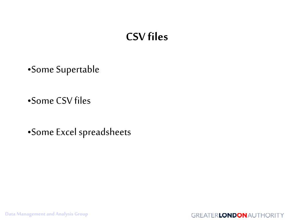CSV files