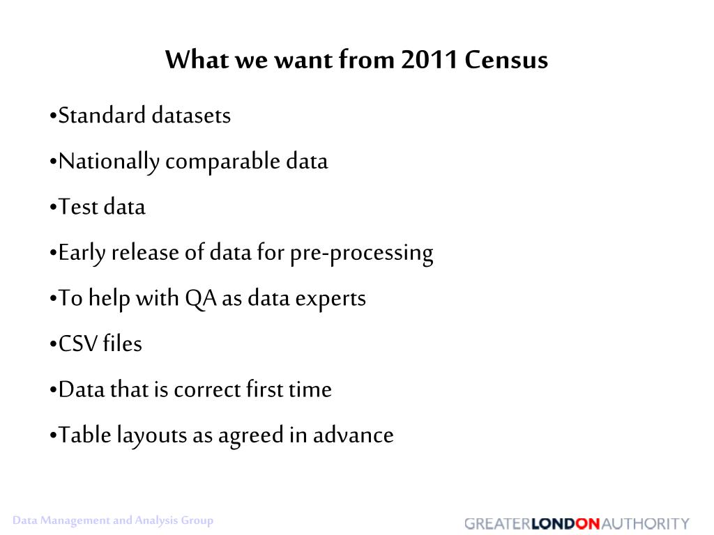 What we want from 2011 Census