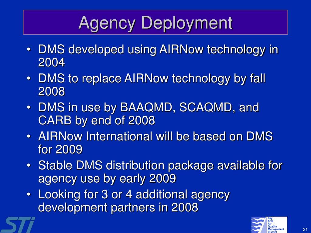 Agency Deployment