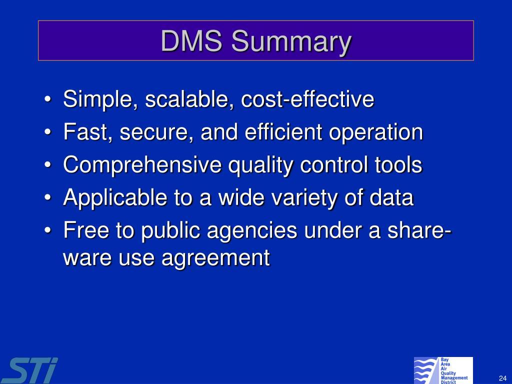 DMS Summary