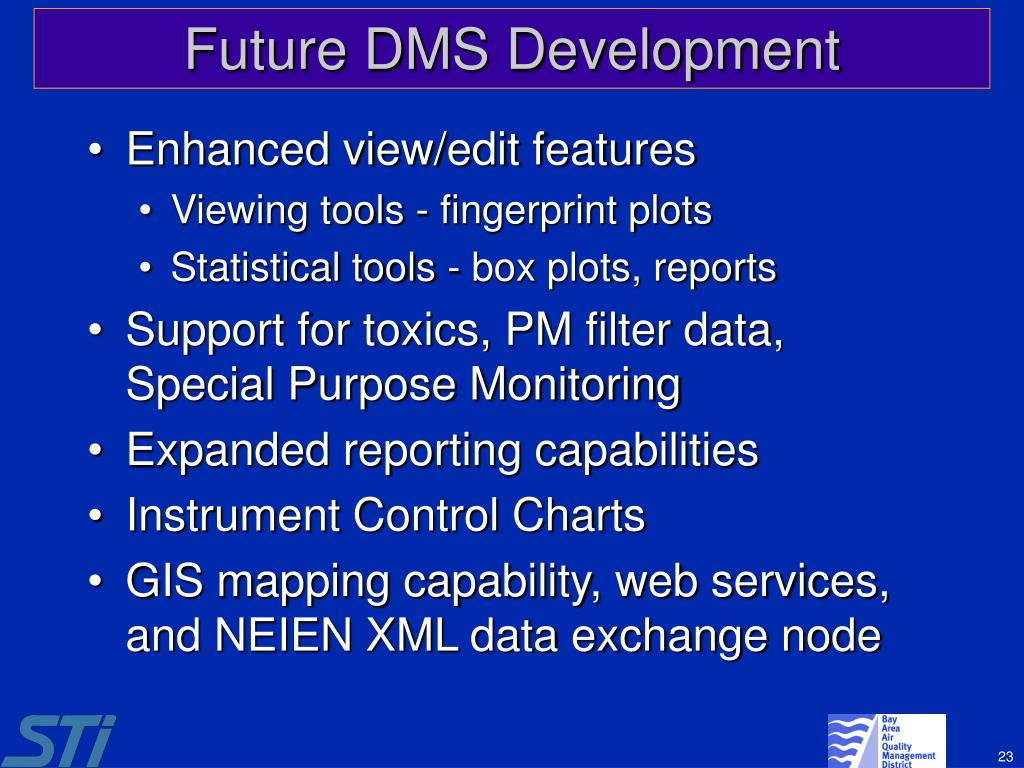 Future DMS Development
