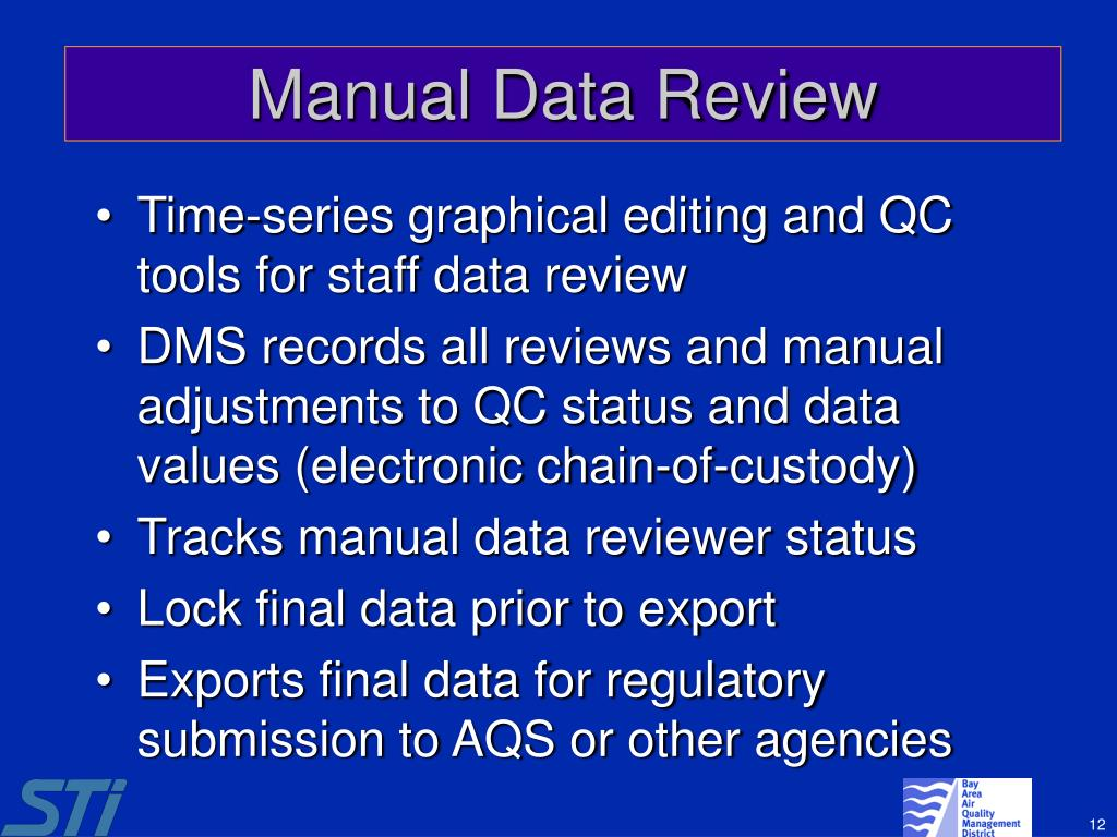 Manual Data Review