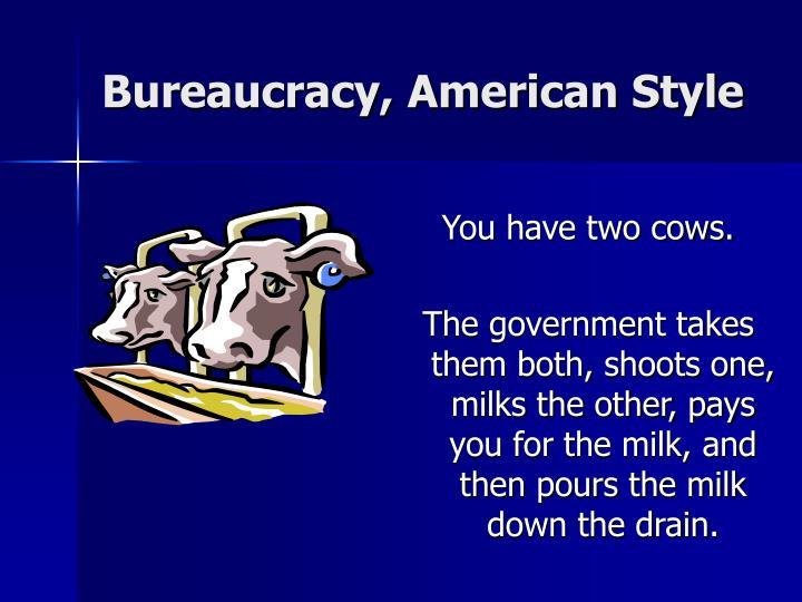 Bureaucracy, American Style