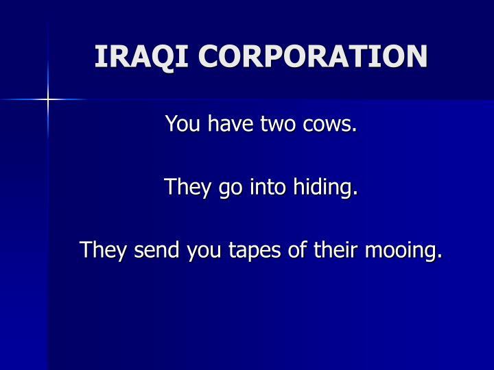 IRAQI CORPORATION