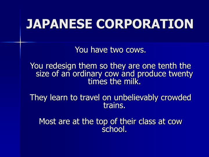 JAPANESE CORPORATION
