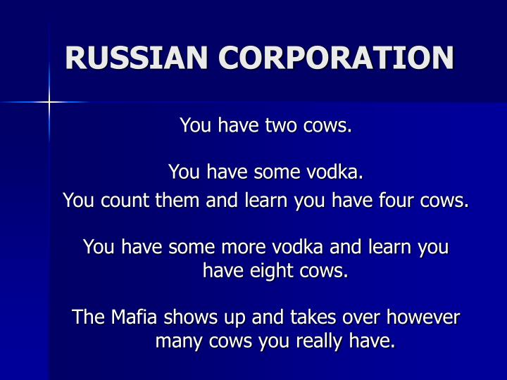 RUSSIAN CORPORATION