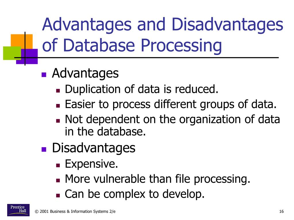 Advantages and Disadvantages of Database Processing
