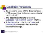 database processing15