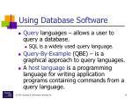 using database software23