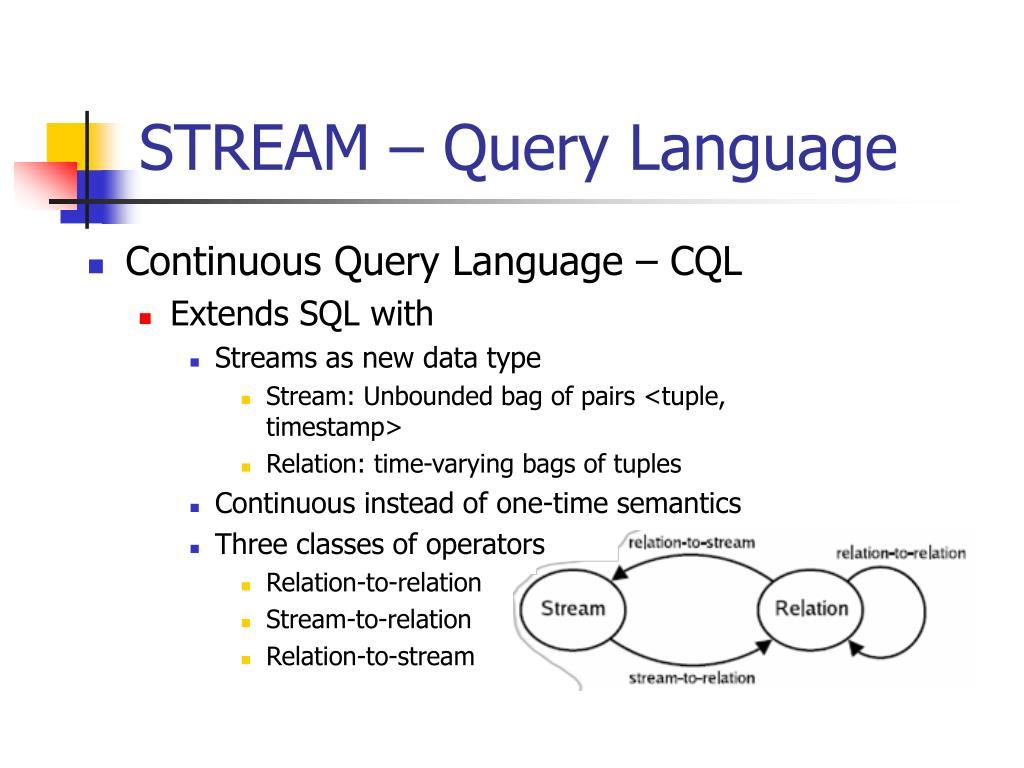 STREAM – Query Language