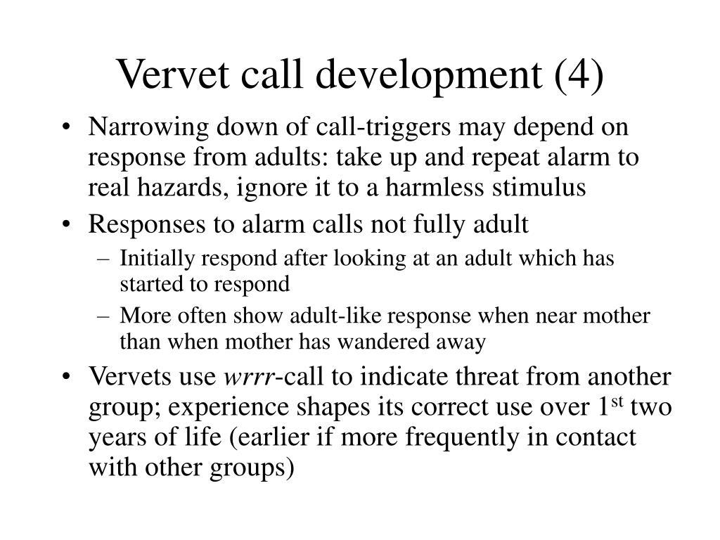 Vervet call development (4)