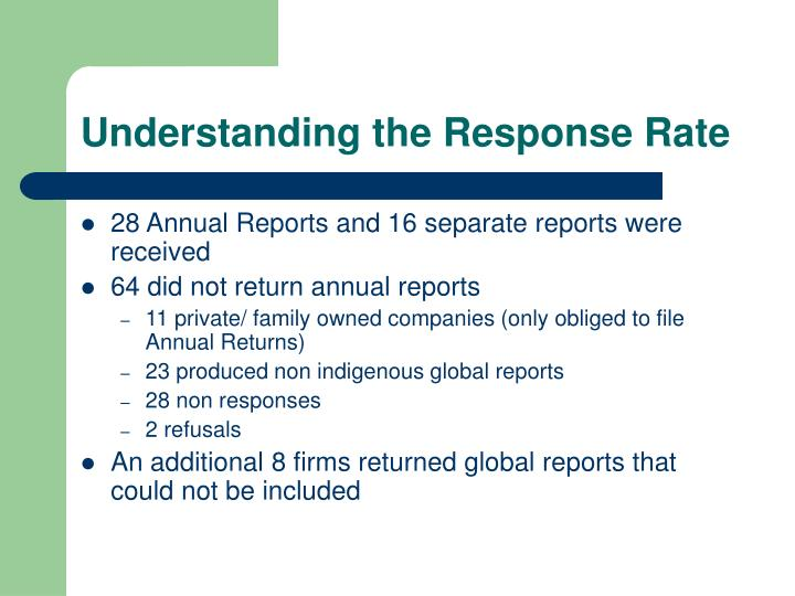 Understanding the Response Rate
