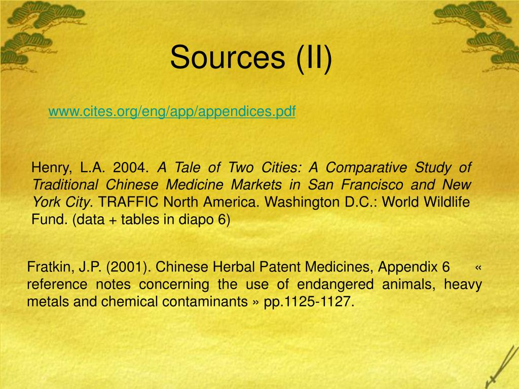 Sources (II)