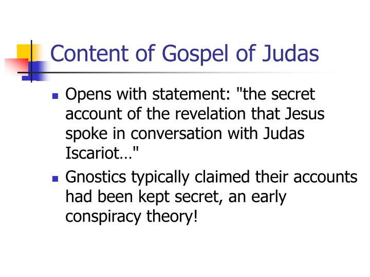Content of Gospel of Judas