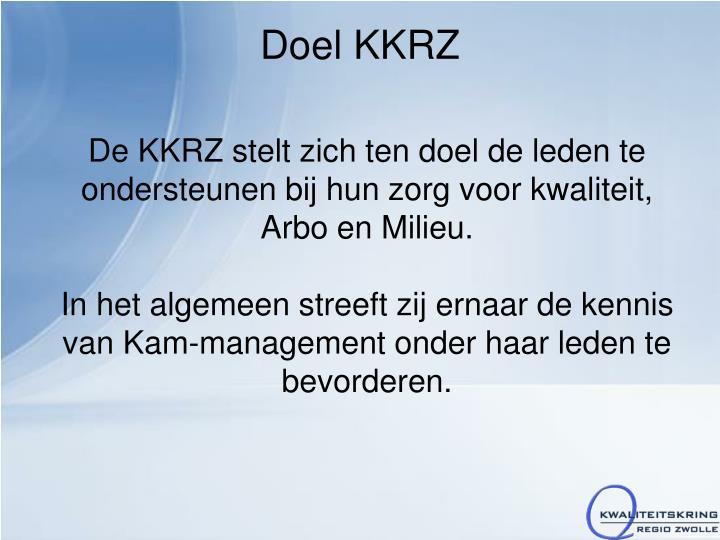 Doel KKRZ