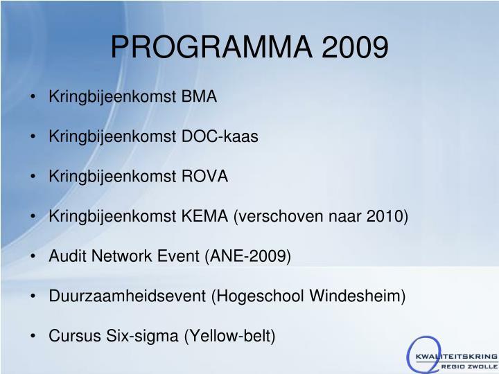 PROGRAMMA 2009