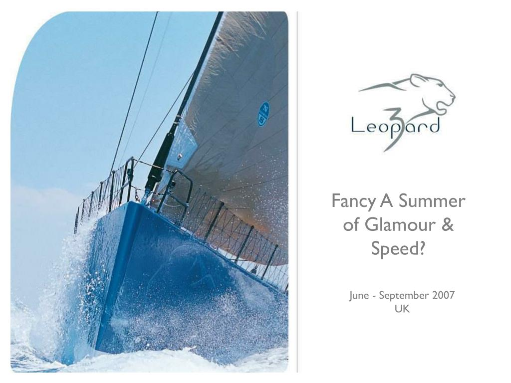 Fancy A Summer of Glamour & Speed?