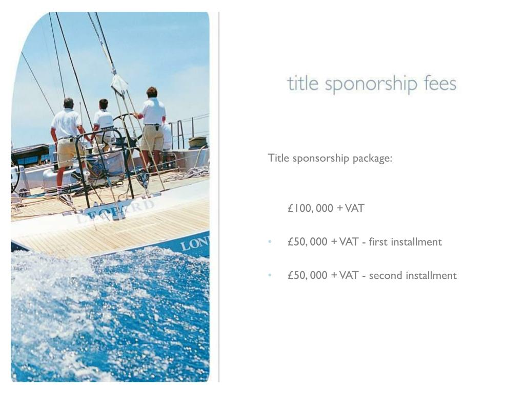 Title sponsorship package: