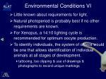 environmental conditions vi