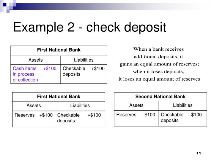 Example 2 - check deposit