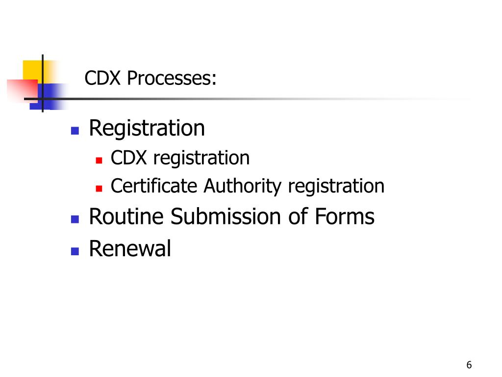 CDX Processes: