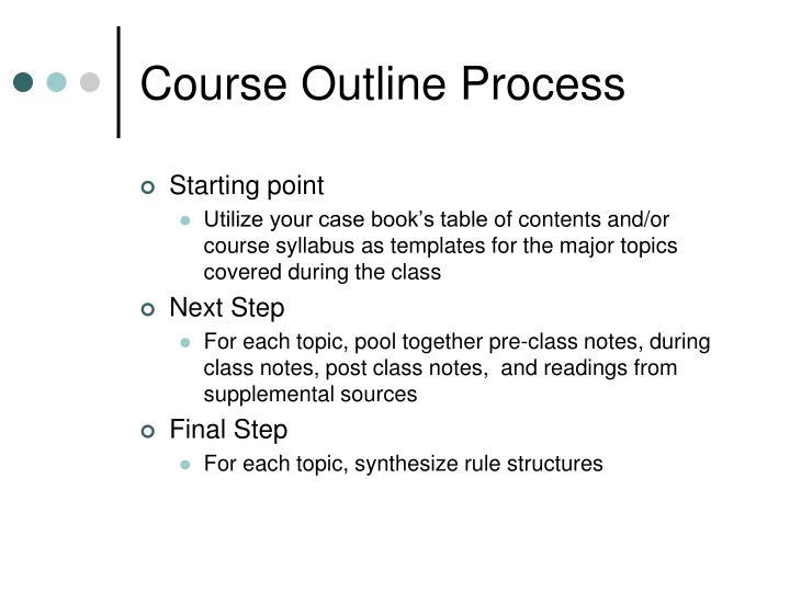 Course Outline Process