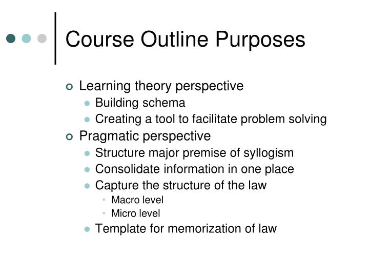 Course outline purposes