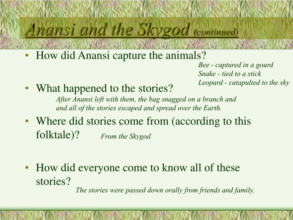 Anansi and the Skygod