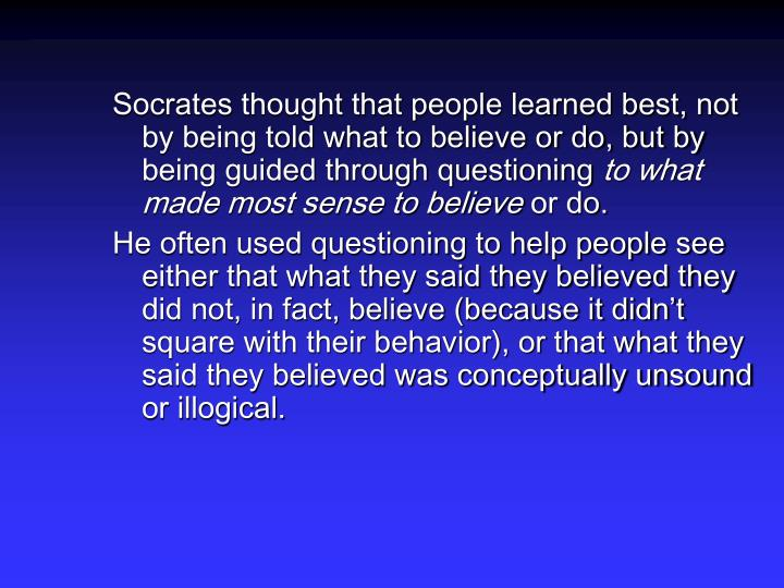 socrates contributions to critical thinking 2007-10-7 hume's contributions to economics are found mostly in his political discourses (1752), which were later incorporated into.