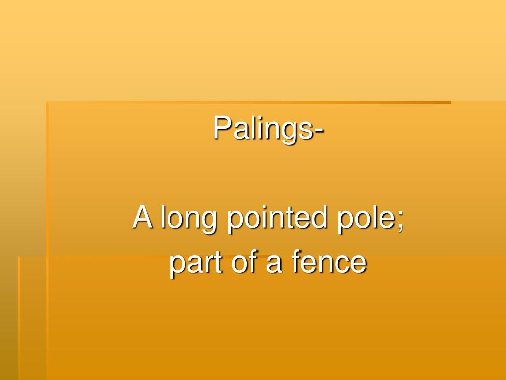 Palings-
