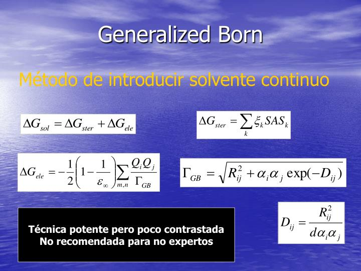 Generalized Born