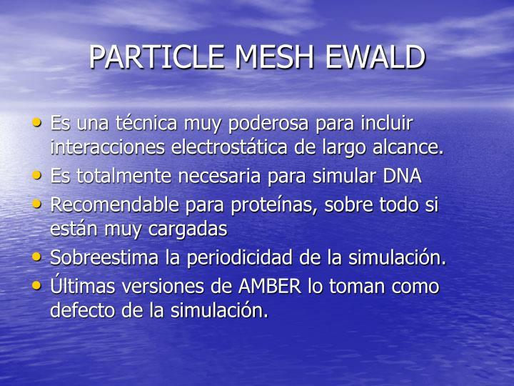 PARTICLE MESH EWALD