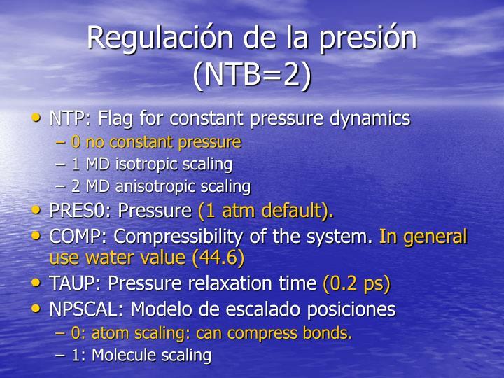 Regulación de la presión