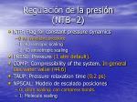 regulaci n de la presi n ntb 2
