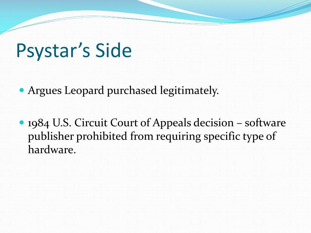 Psystar's Side