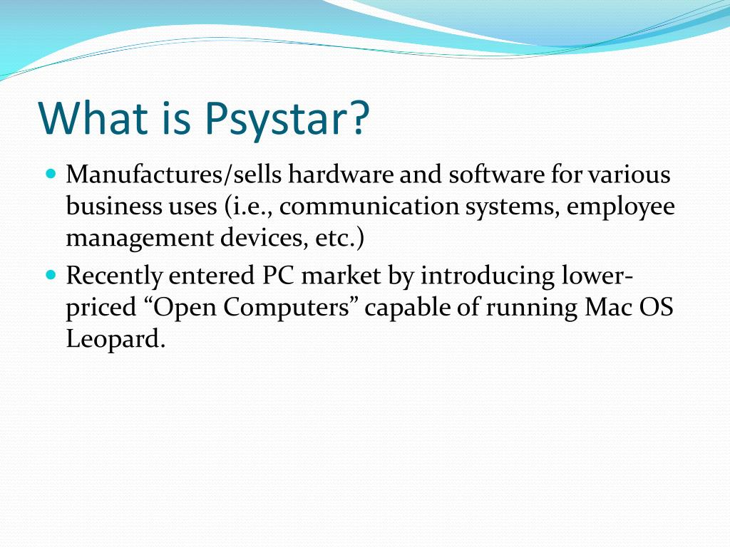 What is Psystar?