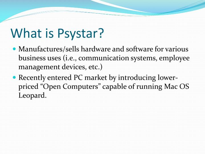 What is psystar
