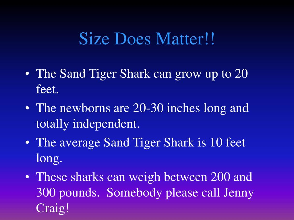 Size Does Matter!!