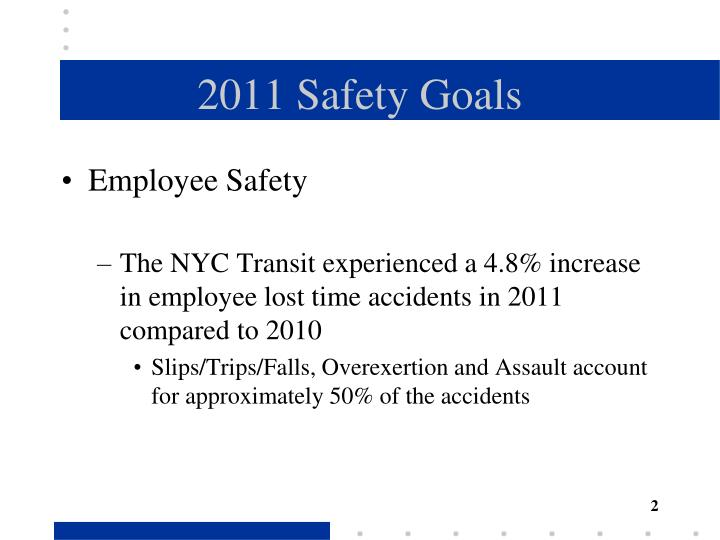 2011 Safety Goals