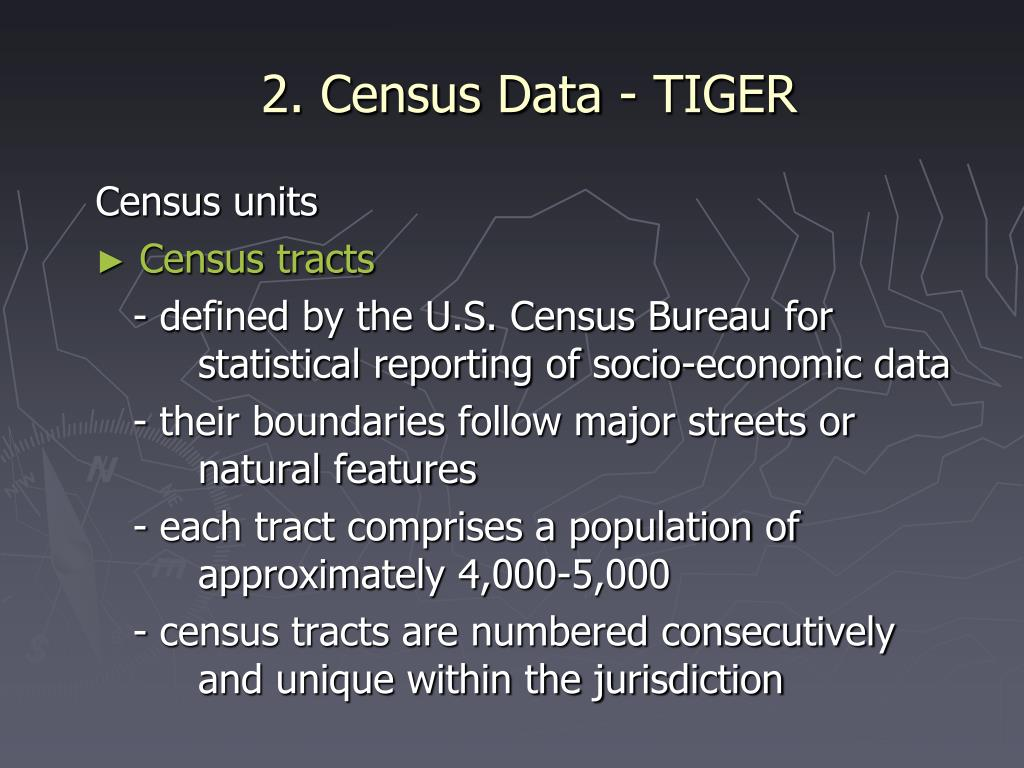 2. Census Data - TIGER