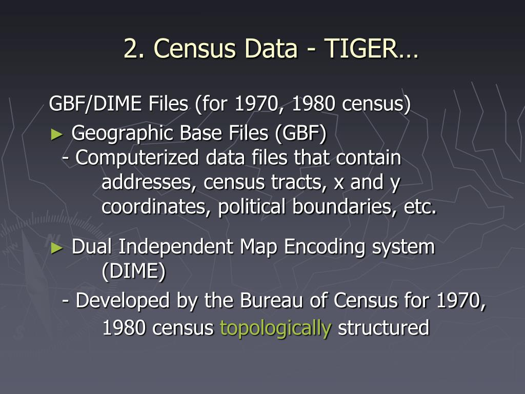 2. Census Data - TIGER…