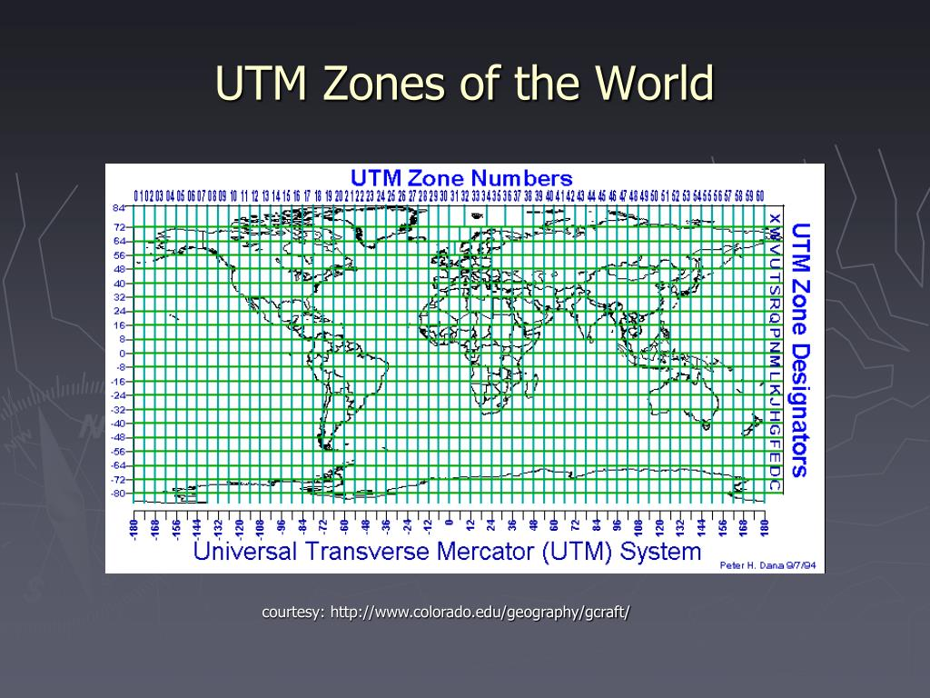 UTM Zones of the World