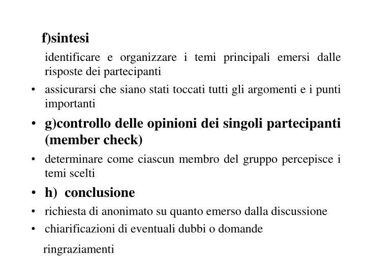 f)sintesi