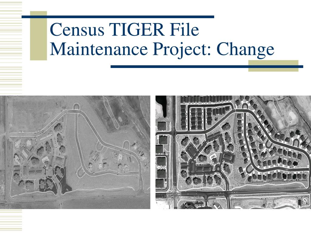 Census TIGER File Maintenance Project: Change